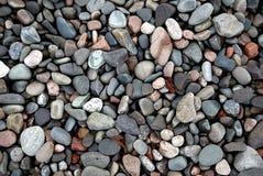 Guijarros de la playa. Foto de archivo