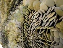 Guijarros de piedra clasificados en diversos colores macros Fotografía de archivo