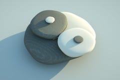 Guijarros de Yin Yang Imagen de archivo libre de regalías