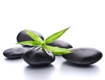 Guijarros del zen. Concepto de piedra del balneario y de la atención sanitaria. Imagen de archivo