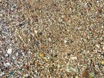 Guijarros en la playa en agua Foto de archivo libre de regalías