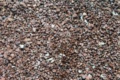 Guijarros y pequeñas piedras en la costa Fotos de archivo