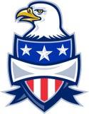 Águila calva americana con el blindaje Fotografía de archivo