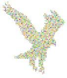 Águila de la estrella Fotos de archivo libres de regalías