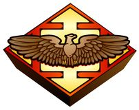 Águila legal del emblema Fotos de archivo