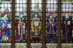 The Guild Chapel Stained Glass Window - center panel stock images