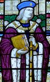 The Guild Chapel Stained Glass Window - Close up B stock photo