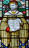 The Guild Chapel Stained Glass Window - Close up C royalty free stock photo