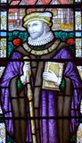 The Guild Chapel Stained Glass Window - Close up E royalty free stock photos