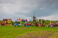 Guild Festival of the Dutch village of Terheijden. Guild Festival to mark the 460 anniversary of the Archers Guild of St. Antonius Abt from the Dutch village of Royalty Free Stock Photos