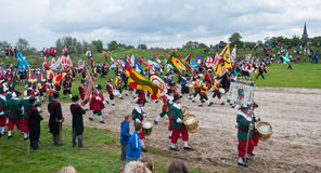 Guild Festival at the Dutch village of Terheijden. Guild Festival to mark the 460 anniversary of the Archers Guild of St. Antonius Abt from the Dutch village of Stock Images