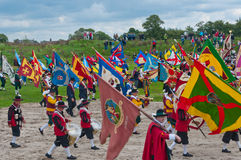 Guild Festival at the Dutch village of Terheijden. Guild Festival to mark the 460 anniversary of the Archers Guild of St. Antonius Abt from the Dutch village of Stock Image