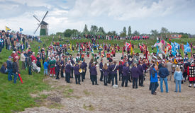 Guild Festival at the Dutch village of Terheijden. Guild Festival to mark the 460 anniversary of the Archers Guild of St. Antonius Abt from the Dutch village of Royalty Free Stock Photo