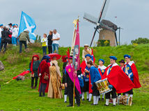 Guild Festival Terheijden. Guild Festival to mark the 460 anniversary of the Archers Guild of St. Antonius Abt from the Dutch village of Terheijden (North Royalty Free Stock Image