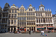 Guild houses on the Grand Place in Brussels Stock Image