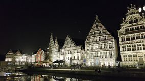 Guild-houses and watch tower , Ghent Stock Photo
