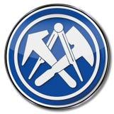 Guild shield slater Royalty Free Stock Image