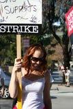 Guilde d'auteurs de grève de l'Amérique 2008 L Photographie stock libre de droits