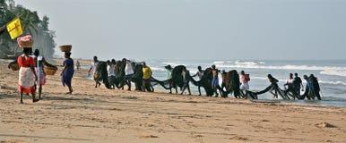Guilde de pêche dans l'Inde Photo stock