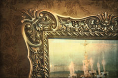 Guilded mirror reflection Royalty Free Stock Photography