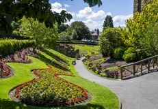 Guildford Castle Grounds ,Surrey England. Flower Beds at Guildford Castle Grounds ,Surrey England royalty free stock photography
