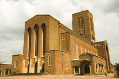 Guildford Cathedral. In Surrey England is a 20th Century structure built of brick Stock Photography