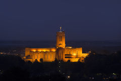 Guildford Cathedral. The Anglican cathedral in Guildford, at night Stock Photos