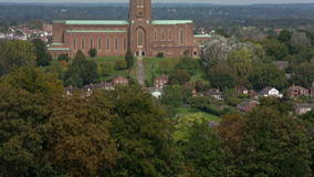 Guildford Cathedral 01 stock footage