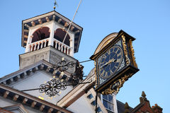 Guildford Clock. The ancient clock in Guildford High Street, Surrey, England Royalty Free Stock Photos