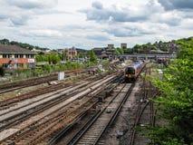 Guildford linie kolejowe Obrazy Royalty Free