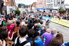 GUILDFORD, R-U - SEPTEMBRE 21 : Mark Cavendish Leading une visite de Britai Images stock