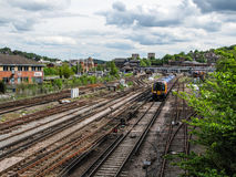 Guildford rail tracks Royalty Free Stock Images