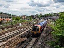 Guildford rail tracks Stock Image