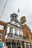 Guildford-Rathaus-historische Uhr lizenzfreie stockbilder