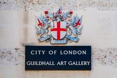 Guildhall Art Gallery i London, UK Royaltyfri Bild