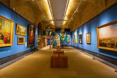 Guildhall Art Gallery i London, UK Arkivbild