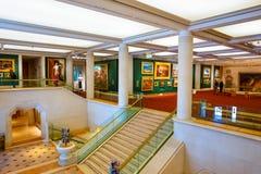 Guildhall Art Gallery i London, UK Arkivfoto
