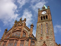 Guildhall of Derry. Against blue sky, Northern Ireland stock photography