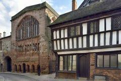 Guildhall för den stuga- & St Mary `en s, Bayley Lane Fotografering för Bildbyråer