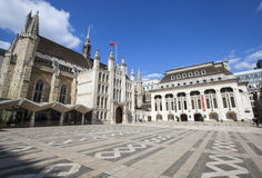 Guildhall and Guildhall Art Gallery in London Stock Photos