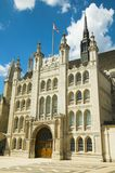 The Guildhall, London. The Guildhall in London is where The Lord Mayor's Show starts from Royalty Free Stock Images