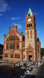 The Guildhall Refurbished. The Guildhall in Derry / Londonderry after being refurbished in 2013 during the UK City of Culture year Royalty Free Stock Image