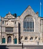 Guildhall van de Heilige Drievuldigheid in Lynn van de Koning, Norfolk, Engeland stock foto's