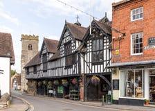Guildhall, Veel Wenlock, Shropshire stock afbeeldingen