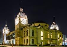 Guildhall in Wuppertal-Elberfeld bij nacht, Duitsland stock afbeeldingen