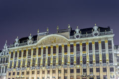 Guildhalls στο μεγάλο μέρος στις Βρυξέλλες, Βέλγιο. Στοκ Εικόνα
