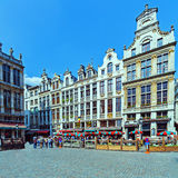 Guildhalls on the Grand Place, Brussels Stock Images