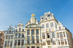 Guildhalls  at Grand Place in Brussels, Belgium Royalty Free Stock Photography