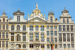 Guildhalls at the Grand Place in Brussels, Belgium.  stock photos