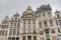 Guildhalls on Grand Place in Brussels, Belgium. Royalty Free Stock Images